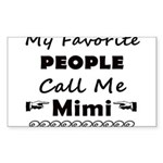 People call me Mimi Sticker (Rectangle)