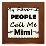 People call me Mimi Framed Tile