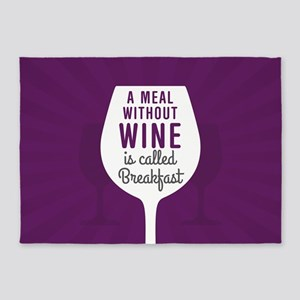 Meal Without Wine 5'x7'Area Rug