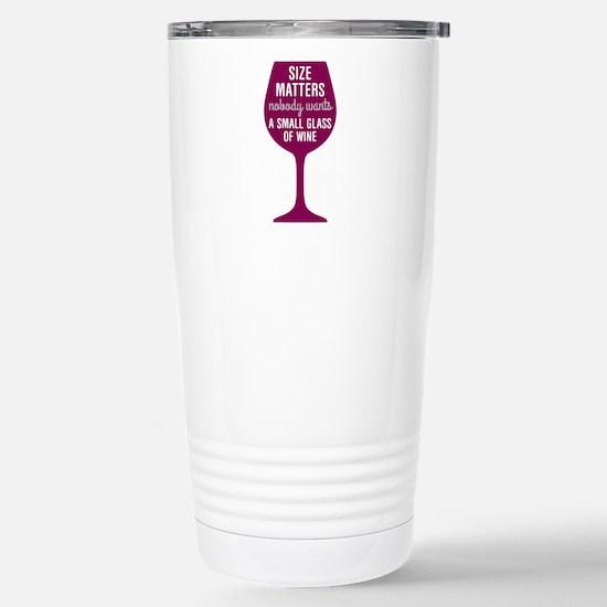 Wine Size Matters Stainless Steel Travel Mug