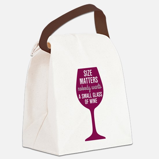 Wine Size Matters Canvas Lunch Bag