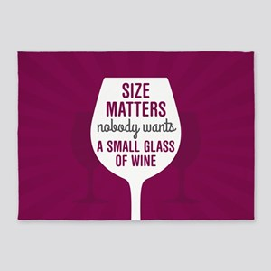 Wine Size Matters 5'x7'Area Rug