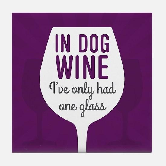 Dog Wine Tile Coaster