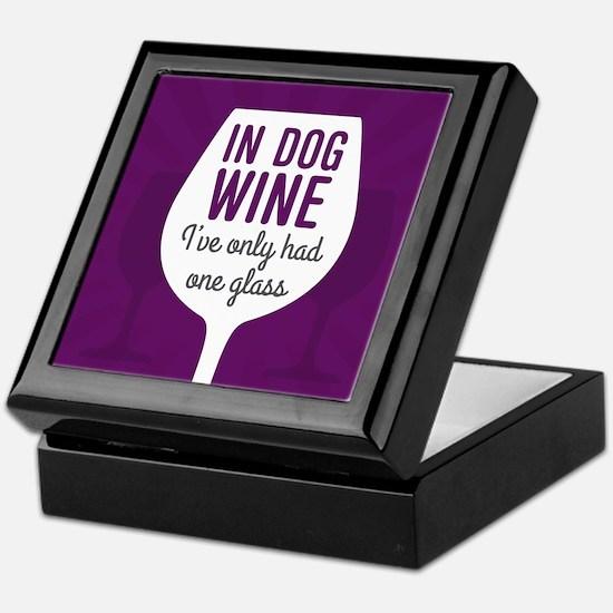Dog Wine Keepsake Box
