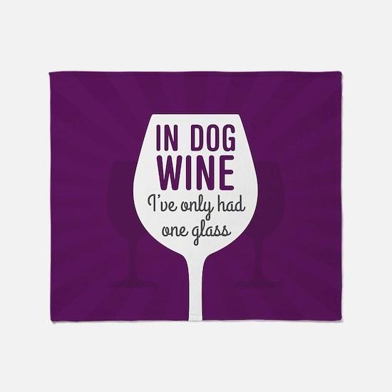 Dog Wine Throw Blanket