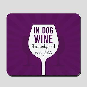 Dog Wine Mousepad