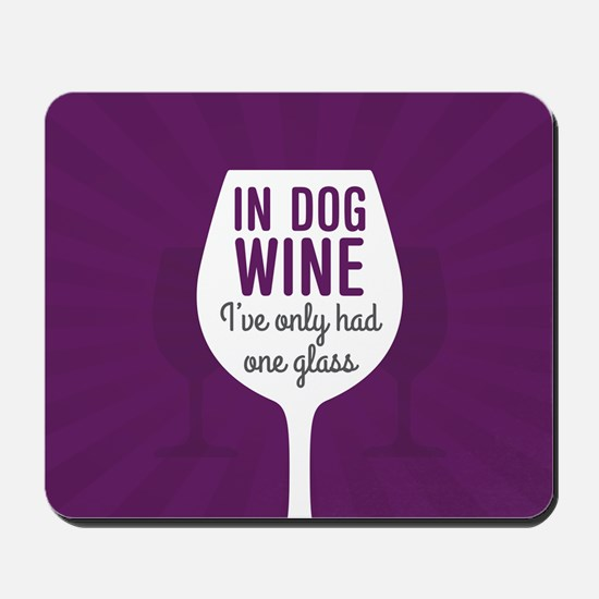Dog Wine Mousepad