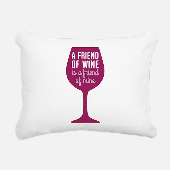Friend of Wine Rectangular Canvas Pillow