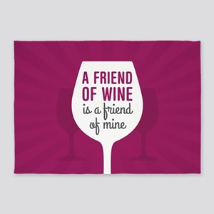 Friend of Wine 5'x7'Area Rug