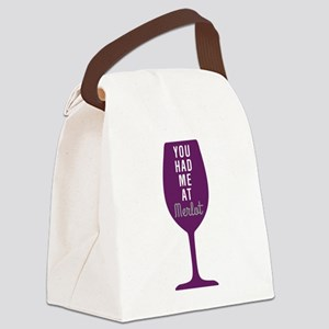 Had Me At Merlot Canvas Lunch Bag