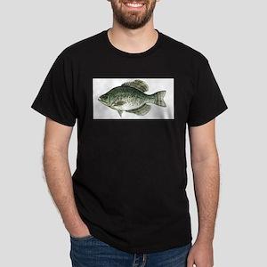 Black Crappie Fish Ash Grey T-Shirt