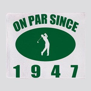 1947 Golfer's Birthday Throw Blanket