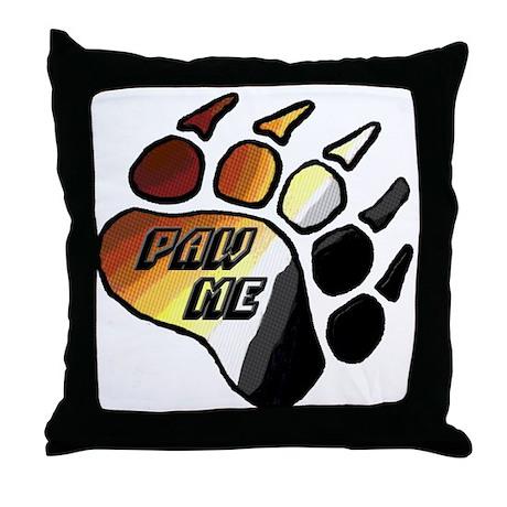 BEAR PRIDE PAW/PAW ME Throw Pillow
