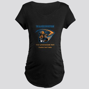 Hockey Personalized Maternity T-Shirt