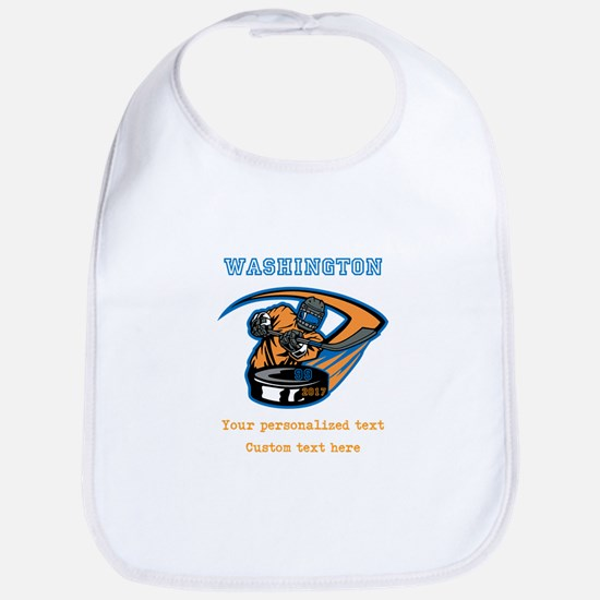 Hockey Personalized Baby Bib
