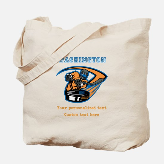 Hockey Personalized Tote Bag