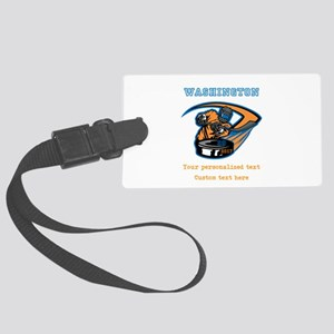 Hockey Personalized Luggage Tag