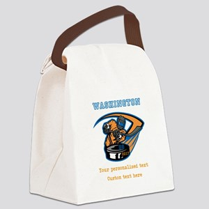 Hockey Personalized Canvas Lunch Bag