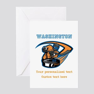 Hockey Personalized Greeting Cards
