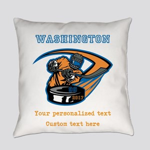 Hockey Personalized Everyday Pillow