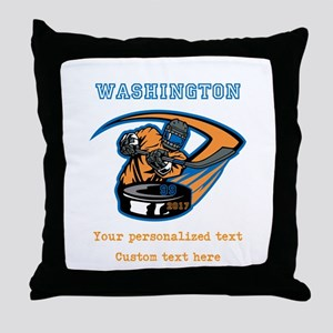 Hockey Personalized Throw Pillow