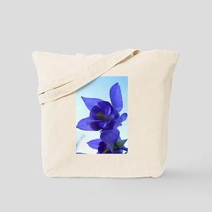 Blue Columbine Tote Bag