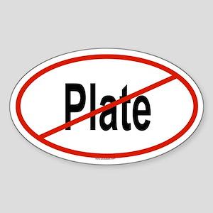 PLATE Oval Sticker
