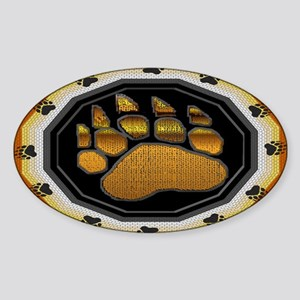 BEAR PAW IN BEAR PRIDE DESIGN Oval Sticker