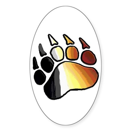 BEAR PRIDE PAW2/TONES Oval Sticker
