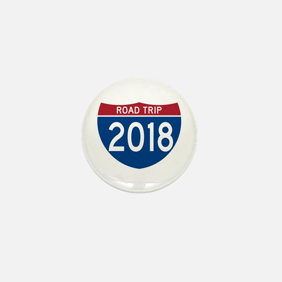 Road Trip 2018 Mini Button