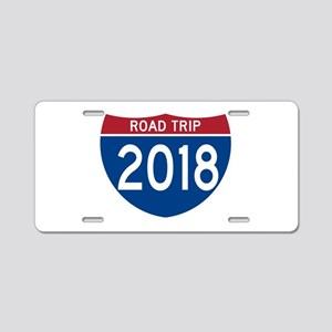 Road Trip 2018 Aluminum License Plate
