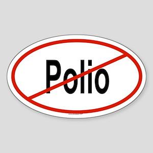POLIO Oval Sticker