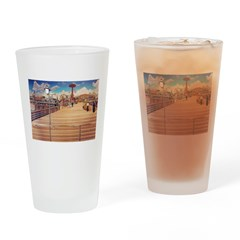 Coney Island Boardwalk Drinking Glass