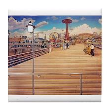 Coney Island Boardwalk Tile Coaster