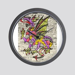 Dragon Graffiti Wall Clock
