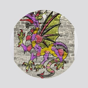 Dragon Graffiti Round Ornament