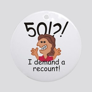 Recount 50th Birthday Red Round Ornament
