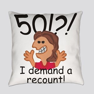 Recount 50th Birthday Red Everyday Pillow