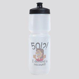 Recount 50th Birthday Red Sports Bottle