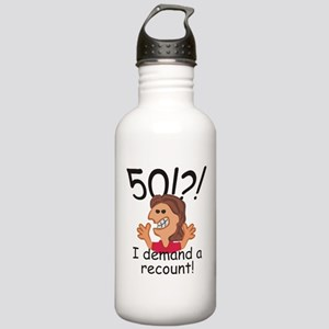 Recount 50th Birthday Red Water Bottle