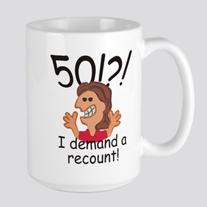 Recount 50th Birthday Red Mugs