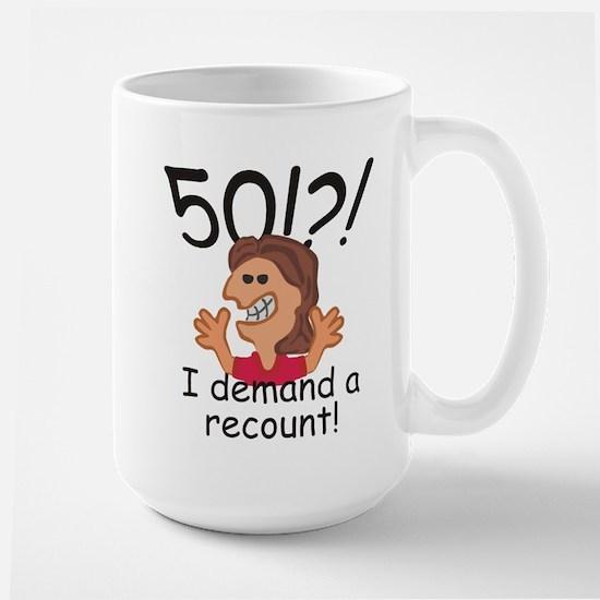 Recount 50th Birthday Red Mugs