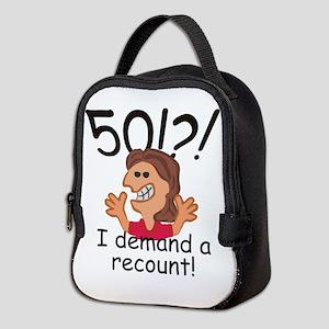 Recount 50th Birthday Red Neoprene Lunch Bag