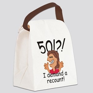 Recount 50th Birthday Red Canvas Lunch Bag