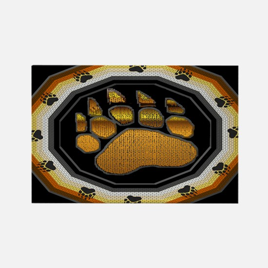 BEAR PAW IN BEAR PRIDE DESIGN Rectangle Magnet