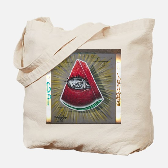 All Seeing Watermelon Tote Bag