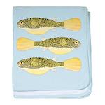 Mbu Giant Freshwater Puffer fish baby blanket