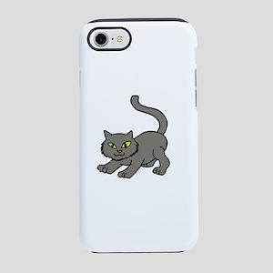 Grey kitty iPhone 8/7 Tough Case