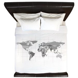 World map king duvet covers cafepress gumiabroncs Images