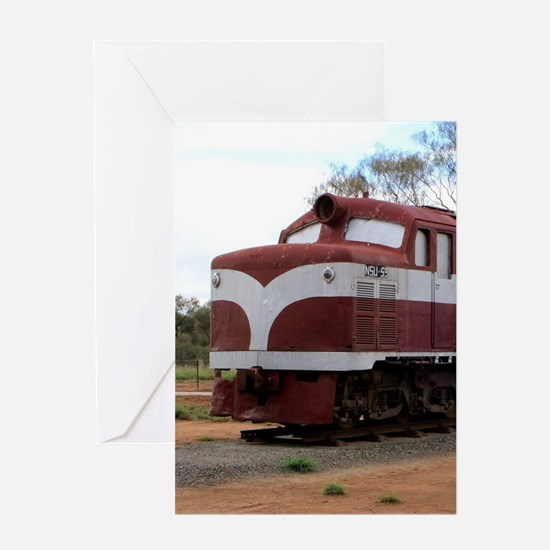 Old Ghan Train, Alice Springs, Aust Greeting Cards